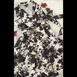Jessica Howard Stunning Chocolate White Dress 18W